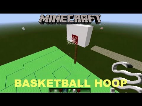 Minecraft tutorial how to make a basketball hoop youtube for How to build a basketball goal