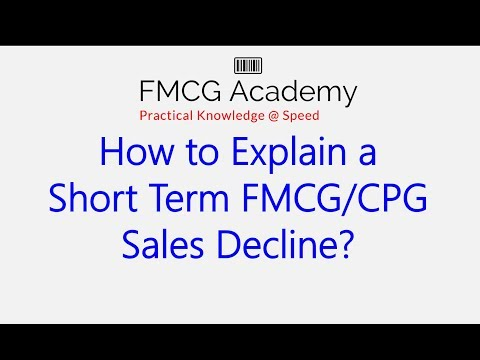 How to Explain a Short Term FMCG/CPG Sales decline?