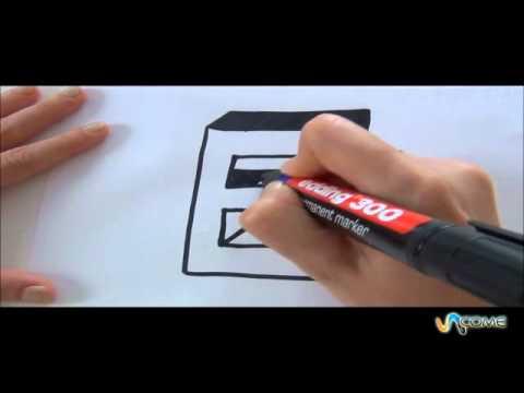 Come disegnare la lettera E in 3D