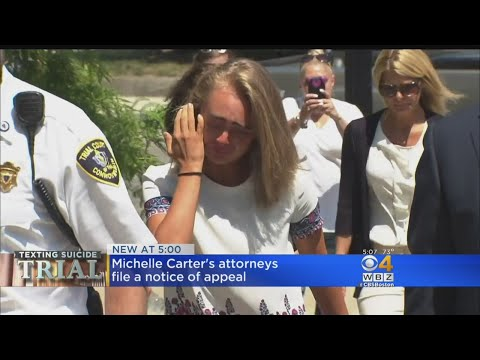Michelle Carter's Attorneys File Notice Of Appeal In Texting Suicide Case