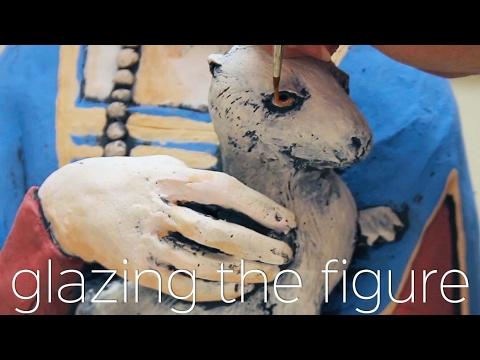 Glazing The Figure with Velvet Underglazes