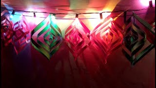coloured paper light decoration for diwali-how to make colored paper diwali light-easy way.-TuberTip