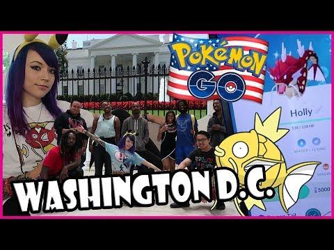 POKEMON GO @ WHITE HOUSE + SHINY RAID CREW + YouTube PARTY in WASHINGTON DC!