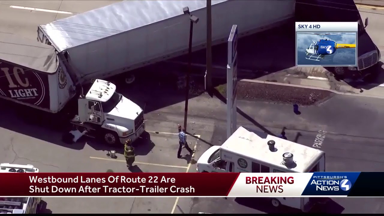 Truck accident closes westbound Route 22 in Murrysville