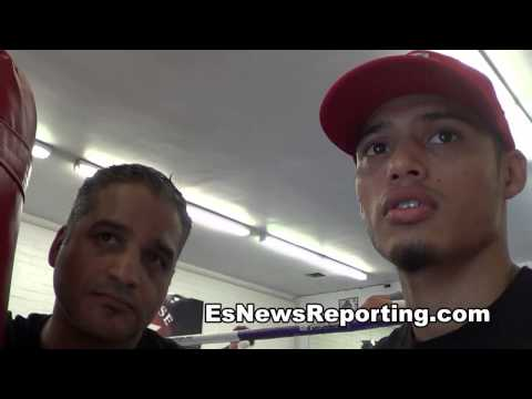 sparring floyd mayweather its like he has 4 hands - juan funez