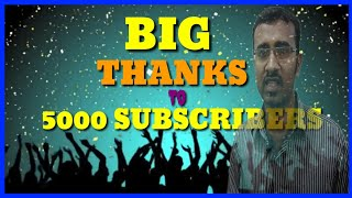 Lot of thanks to 5000 subscribers/celebration/ Lifestyle Tamil