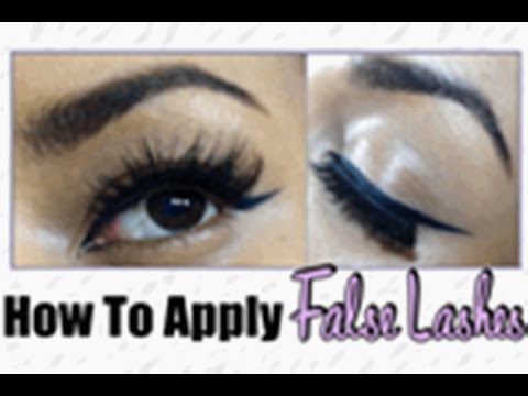How To Apply False Eyelashes Yourself ♡ Beginner Friendly - 동영상