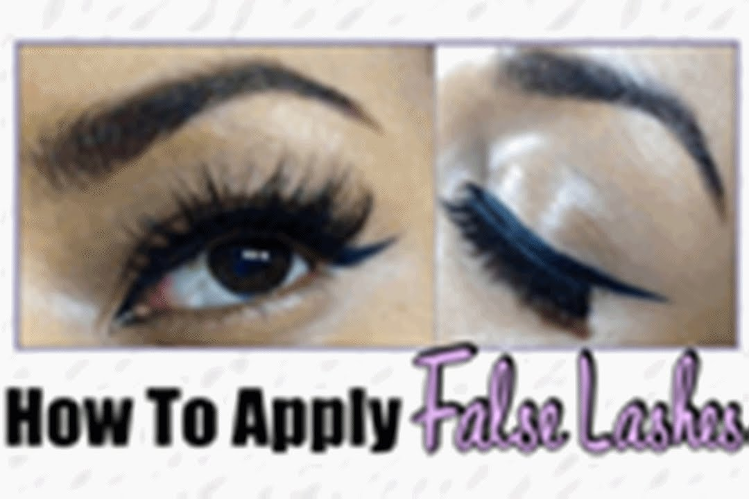 How To Apply False Eyelashes Yourself Beginner Friendly Youtube