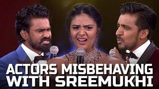 Arjun Reddy Fame Actors Misbehaving with Sreemukhi