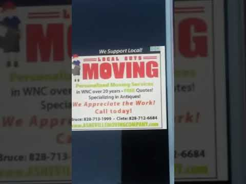 local guys Asheville area moving company we recommend storage Western North Carolina