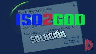 Iso2God solución error no abre iso y como extraer