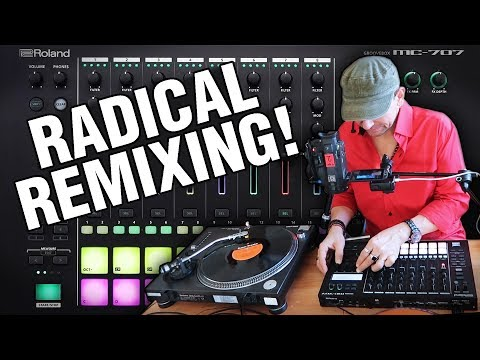 Roland MC-707 (Firmware Update 1.20) Radical Remixing!!