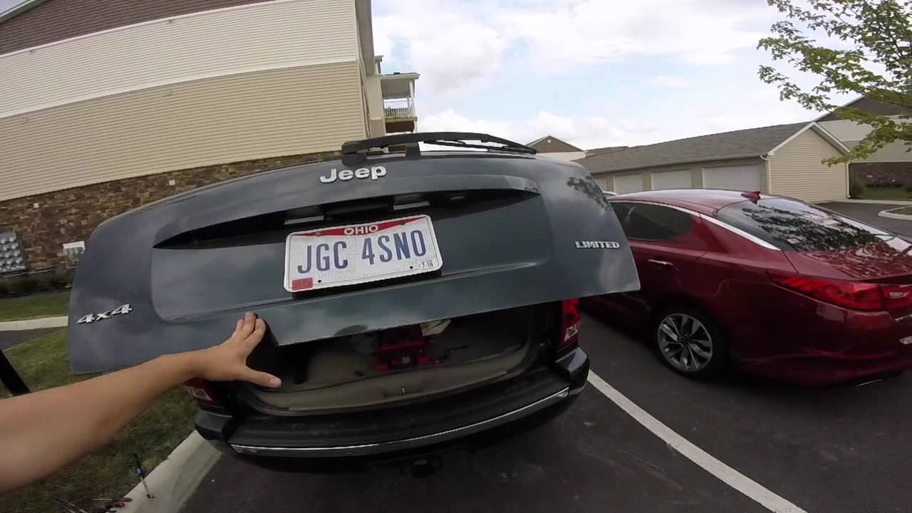 Jeep Grand Cherokee Wk Rear Glass And Hatch Support