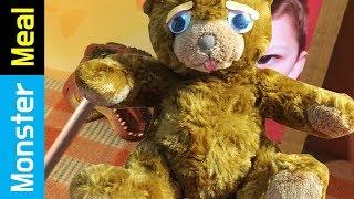 Eating A Living Teddy Bear | Monster Meal ASMR Sounds | Kluna Tik Style Dinner No Talk