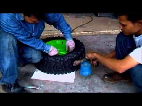 Inflate Tyre With Gas.flv
