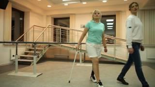 Тренировка усложненной ходьбы на протезе под счет