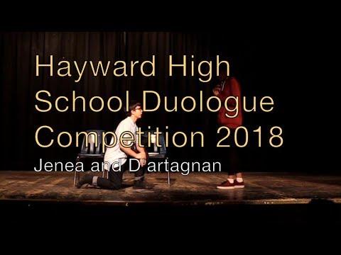 Hayward High School Duologue Competition 2018 - Jenea and D'artagnan