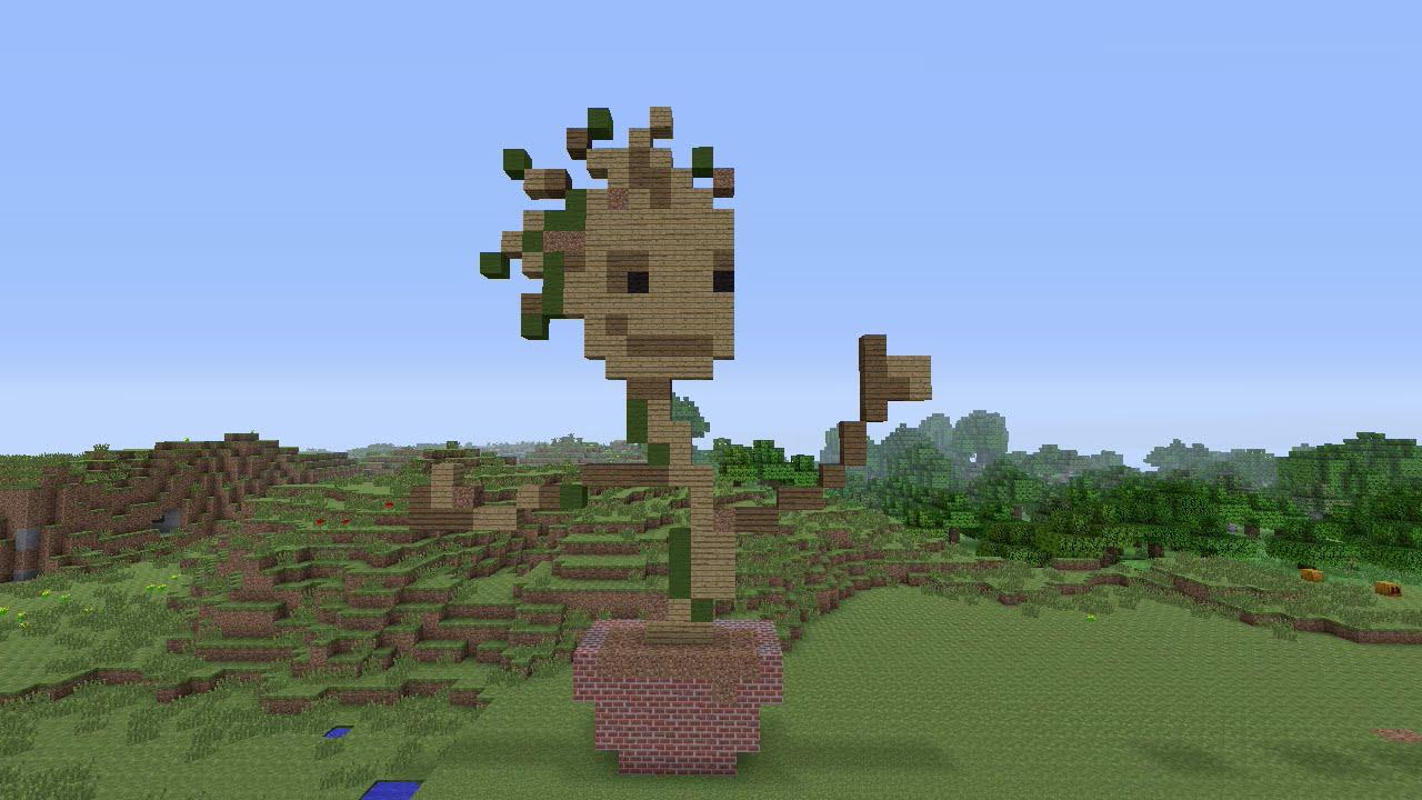 Minecraft Pixel Art Baby Groot