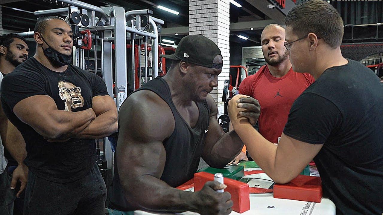 Download SCHOOLBOY VS Whole Gym in Dubai | Arm Wrestling