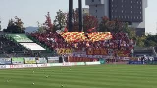 この距離でも岡山の応援より声が聞こえます..... 声量がすごすぎるとい...