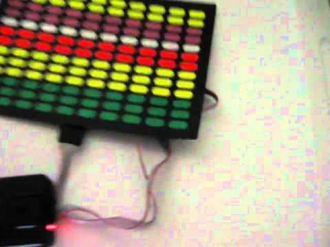Sound Activated Spectrum VU Meter EL Visualizer