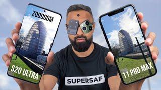 Samsung Galaxy S20 Ultra vs iPhone 11 Pro Max Camera Test Comparison