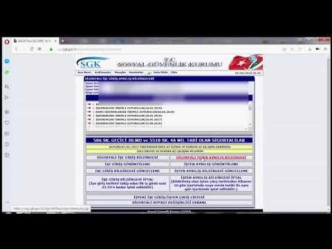 SGK İşe Giriş ve İşten Ayrılış Bildirgeleri (Videolu Anlatım)
