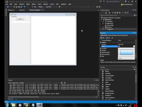 Visual Studio and RSS feed reader tutorial
