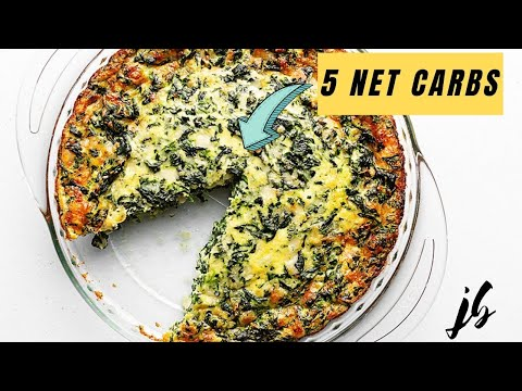 Crustless Quiche with Spinach - Keto, Low Carb, Gluten Free