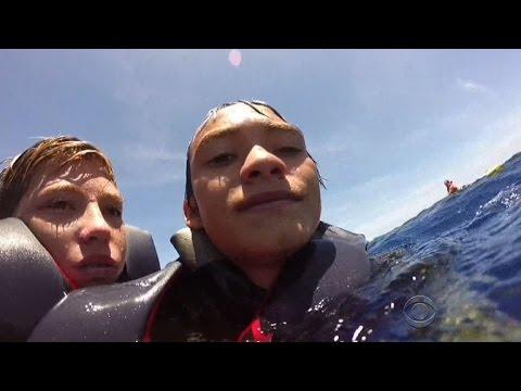 Hawaii Coast Guard rescue at sea captured by GoPro camera