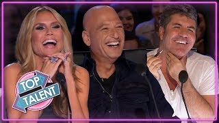 FUNNIEST COMEDIANS ON AMERICA'S GOT TALENT!   TOP TALENT Auditions