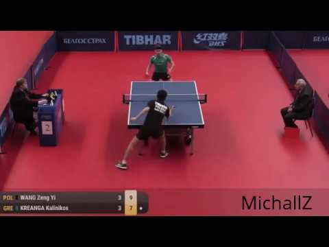 Wang Zeng Yi vs. Kalinikos Kreanga Highlights (Belarus Open 2017)