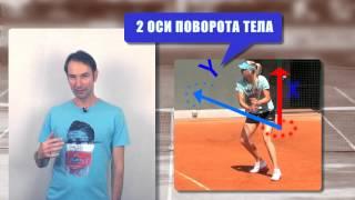 Теннис. Удар слева двумя руками. Урок 4. Техника поворота.