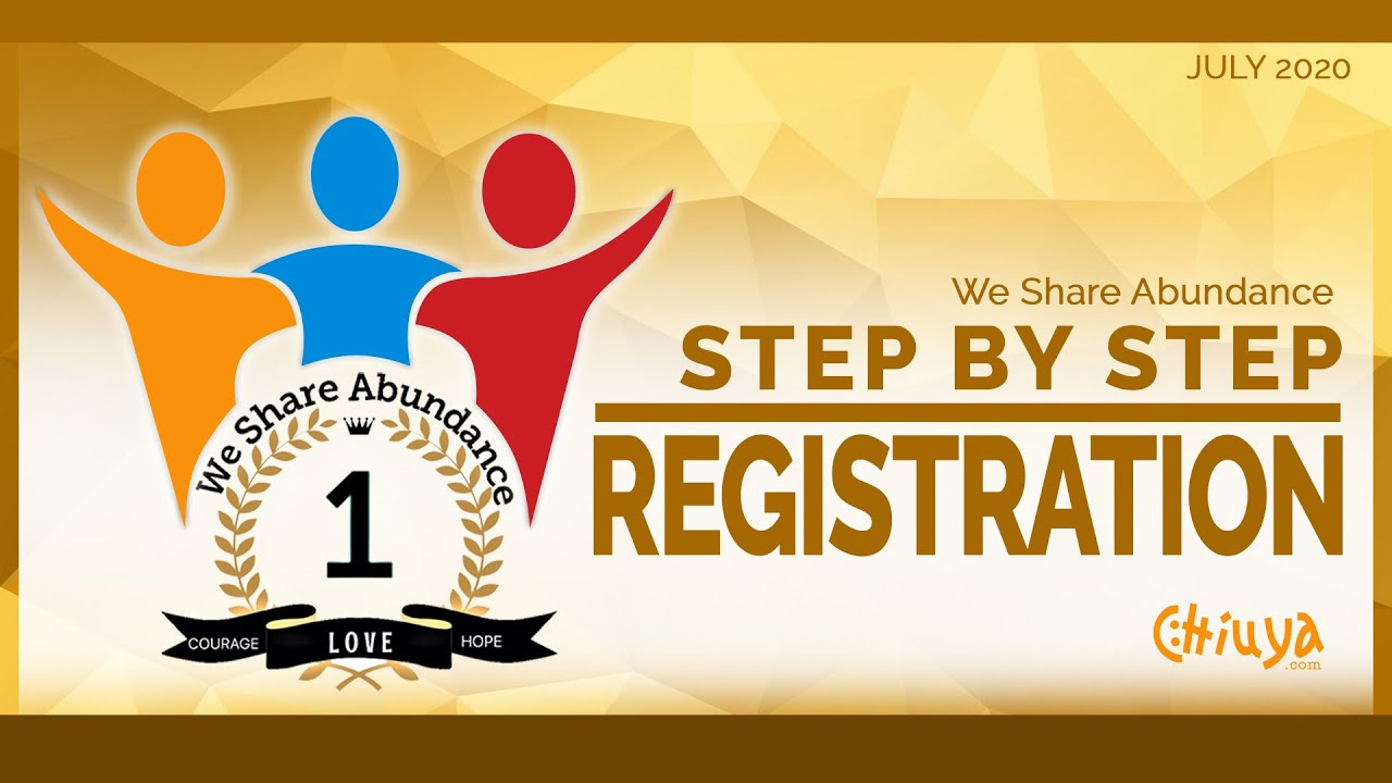 We Share Abundance Step by Step Registration