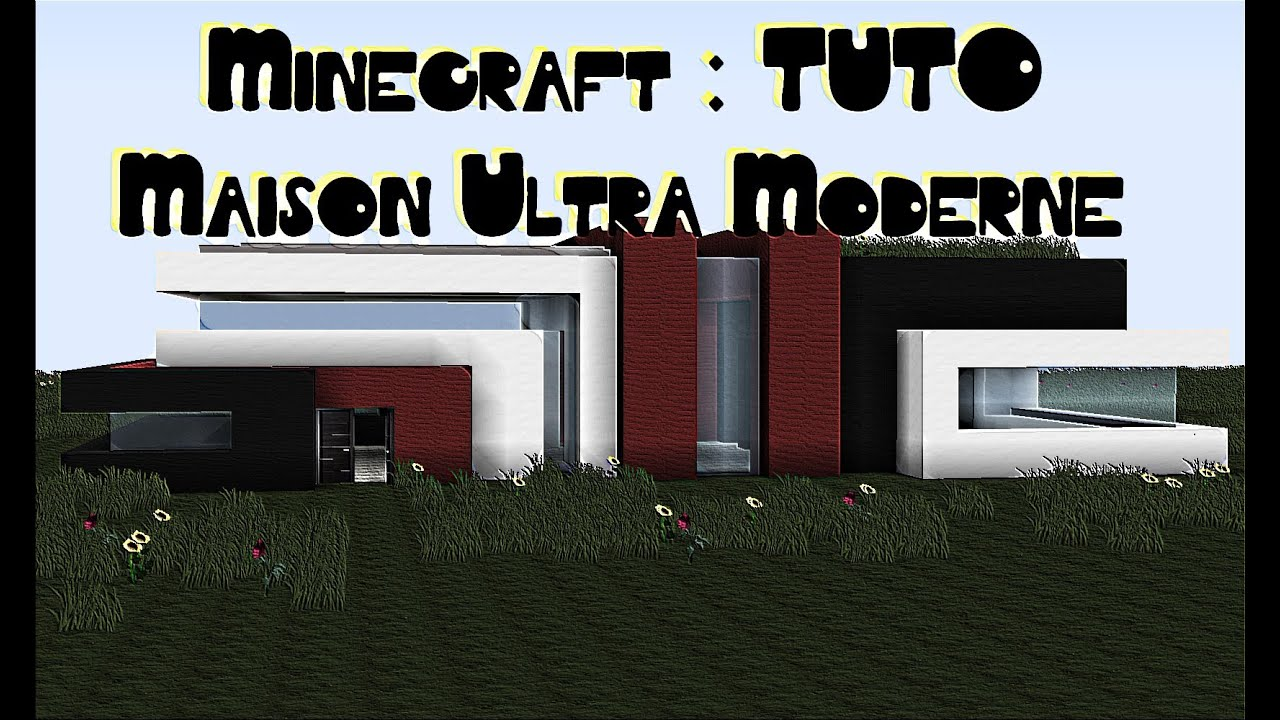 Minecraft tuto maison ultra moderne simple et sans mods for Maison moderne simple