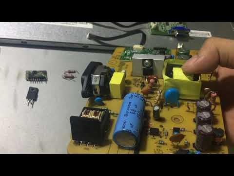 Sửa màn hình LCD Dell hư nguồn - độ lại bằng IC 5L0380