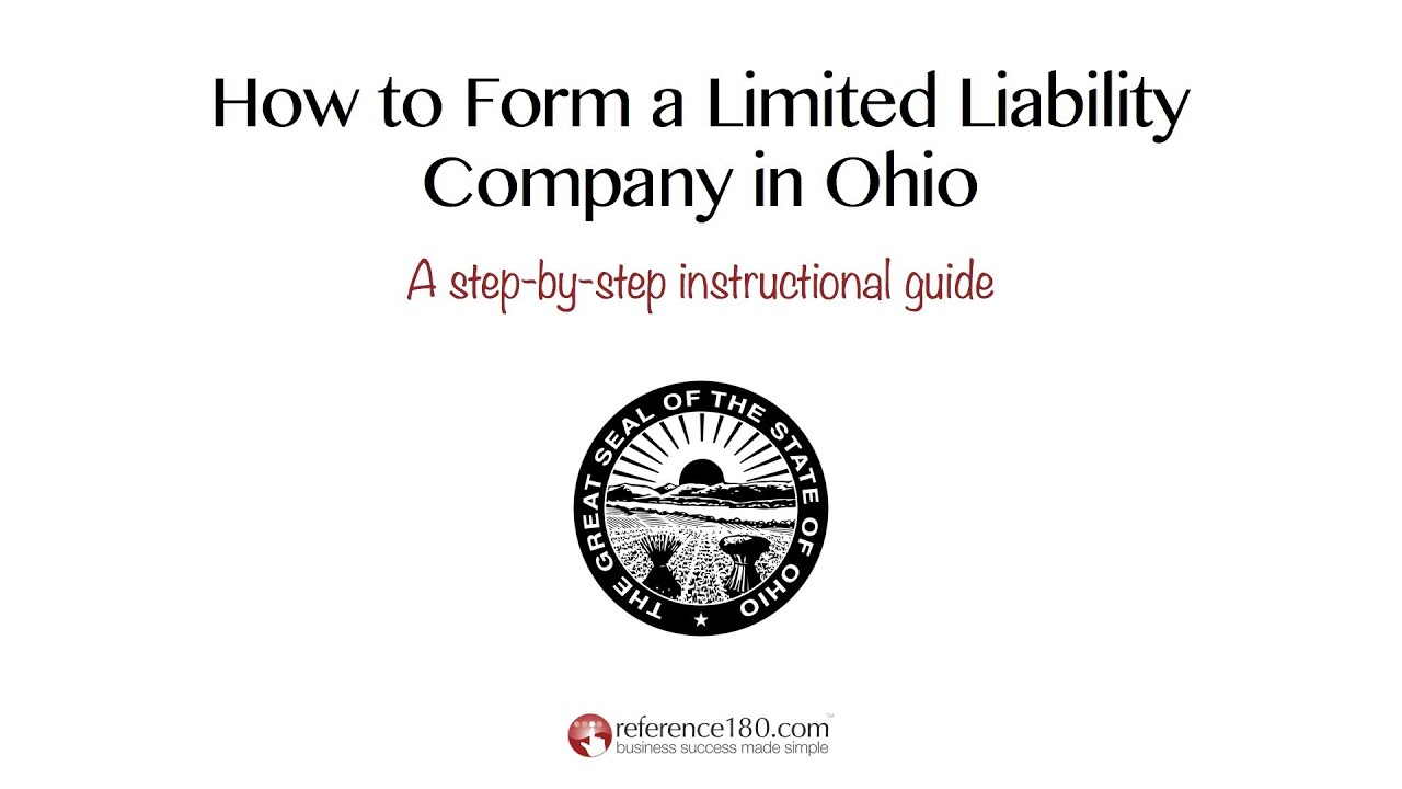 How to Form an LLC in Ohio - YouTube