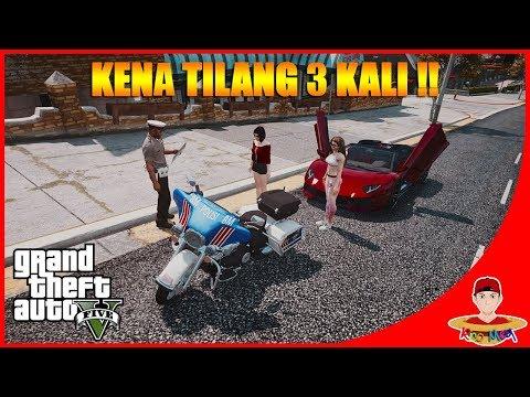GTA V CARVLOG INDONESIA (2) - KENA TILANG 3x !! LAMBORGHINI AVENTADOR!