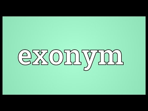 Exonym Meaning