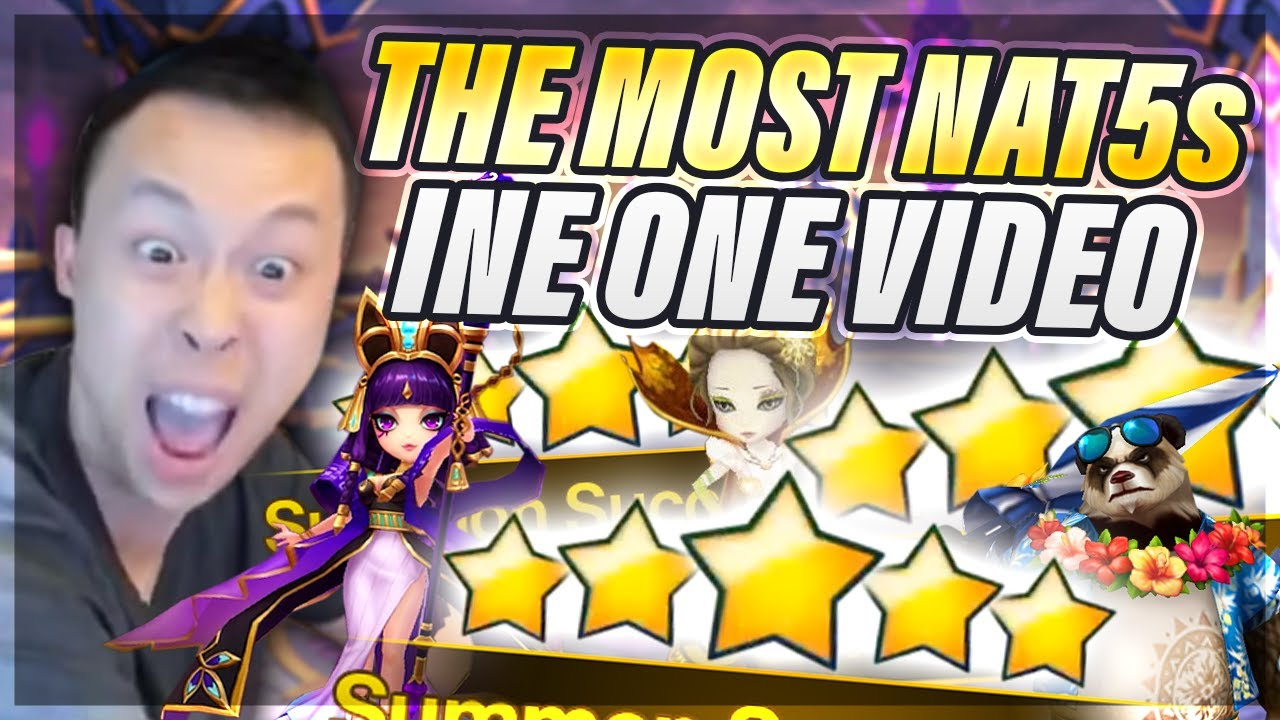 Mind BOGGLING Back To Back NAT 5 Summons! - Most NAT 5s In 1 Video?! - Summoners War
