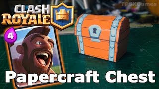 Clash Royale Papercraft Chest