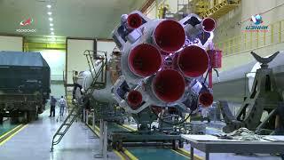 РН ''Союз-2.1а'' для запуска ТПК ''Союз МС-14''. Работа в МИКе