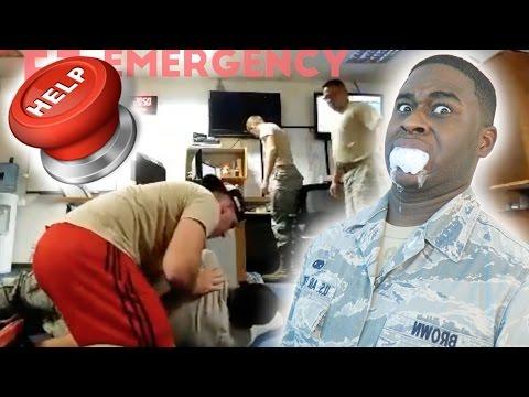 FAKE SIEZURE PRANK ON MILITARY MEMBERS! | Vlog |