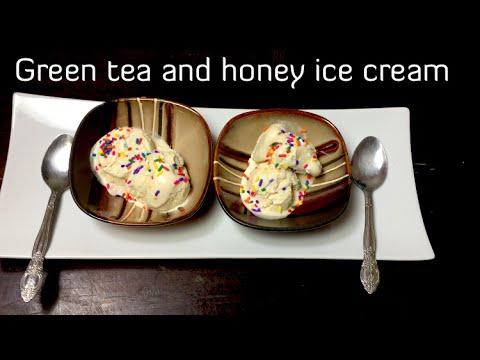 Homemade Green Tea And Honey Ice Cream   Eggless,no Artificial Colors And Sweeteners
