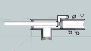 конструкция и 3D модель горелки Бабингтона