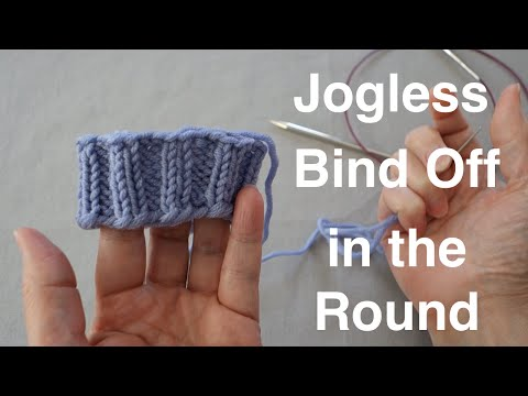 Jogless Finish When Binding Off in the Round