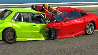 High Speed Head On Crashes #1 BeamNG Drive