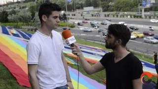 Pintan de arcoíris el escudo de Madrid contra la LGTBfobia