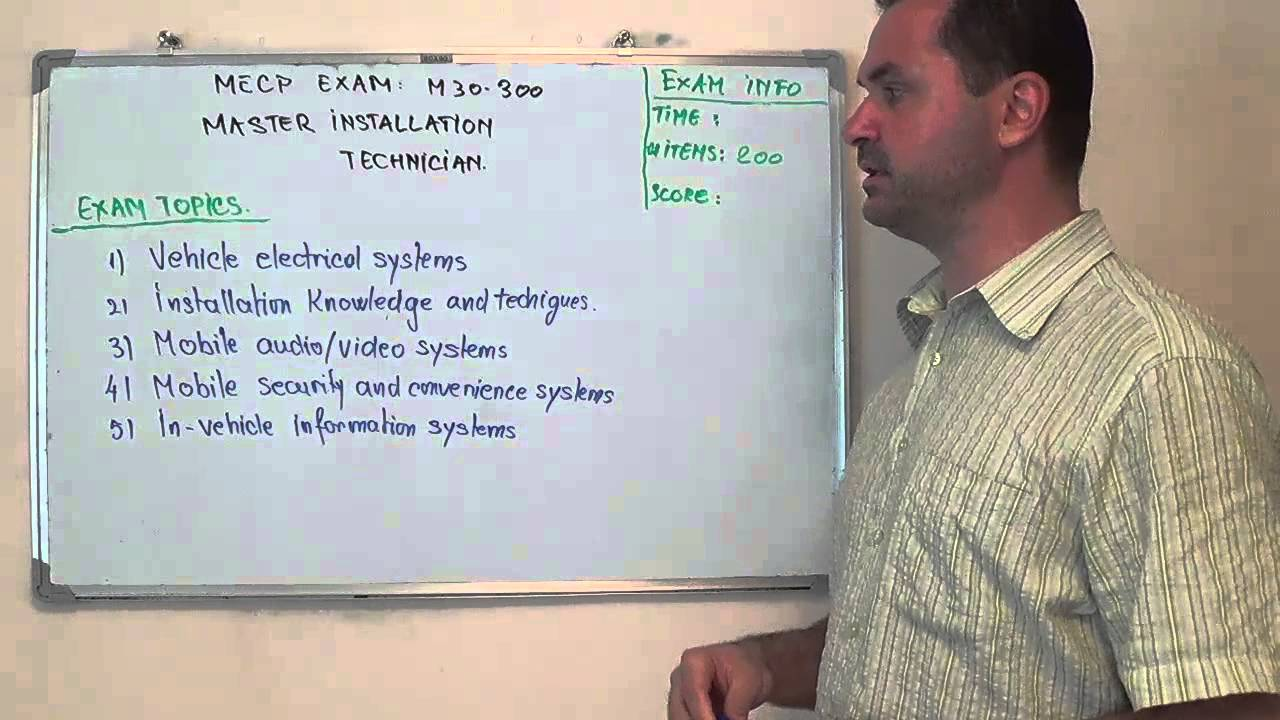 M30 300 Master Test Installation Technician Exam Questions Youtube