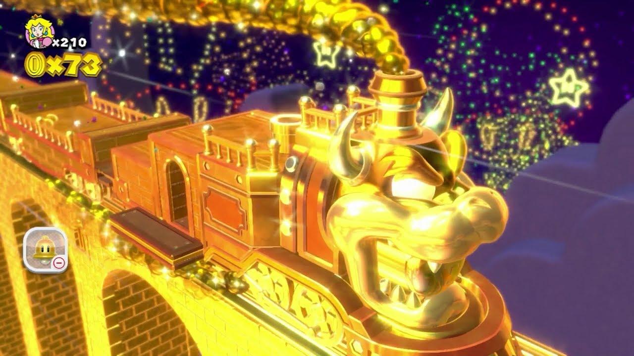Super Mario 3d World 5 Secret Gold Coin Train Golden